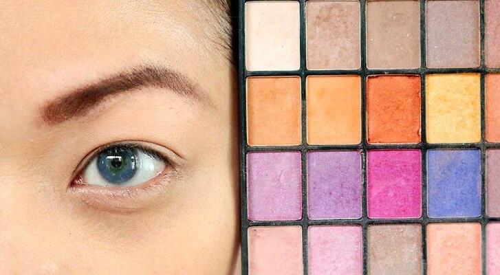 انتخاب رنگ سایه چشم آبی 1